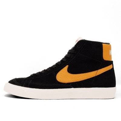 NIKE [BLAZER MID 77 VINTAGE CJ9693 001] (BLACK/ ORANGE)