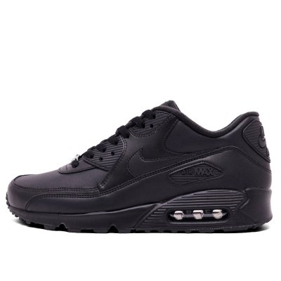 NIKE [AIR MAX 90 LEATHER 302519-001] (BLACK)