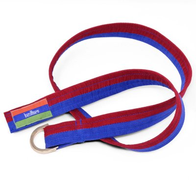 BEDLAM [ CORDUROY D RING BELT ] (RED/ BLUE)