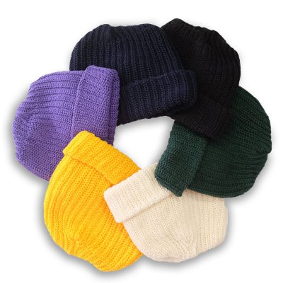 COTTON KNIT BEANIE (6 COLORS)