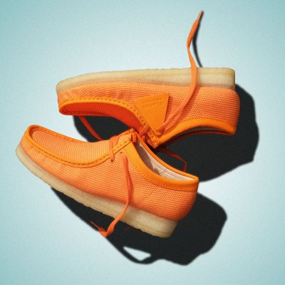 CLARKS ORIGINALS [WALLABEE] (ORANGE TEXTILE)