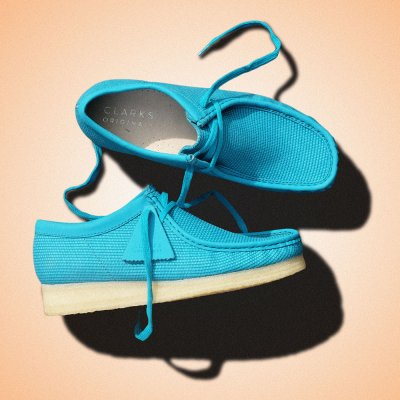 CLARKS ORIGINALS [WALLABEE] (TEAL TEXTILE)