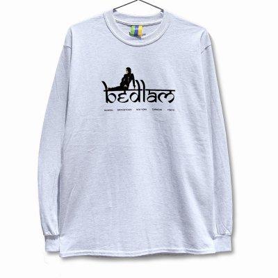 BEDLAM [RIHLAX L/S TEE] (ASH GREY)