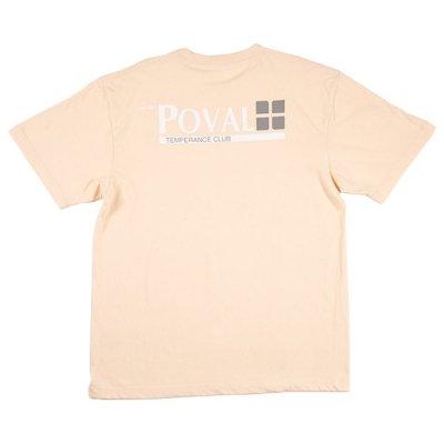 POVAL [BRUSH LOGO TEE] (NATURAL)