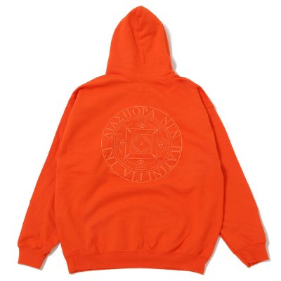 DIASPORA SKATEBOARDS [TONAL MAGIC CIRCLE HOODED SWEATSHIRT] (ORANGE)