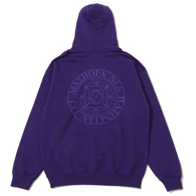 DIASPORA SKATEBOARDS [TONAL MAGIC CIRCLE HOODED SWEATSHIRT] (PURPLE)