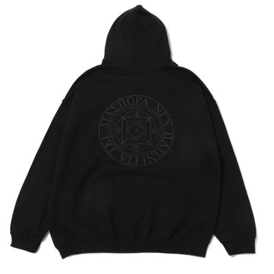 DIASPORA SKATEBOARDS [TONAL MAGIC CIRCLE HOODED SWEATSHIRT] (BLACK)