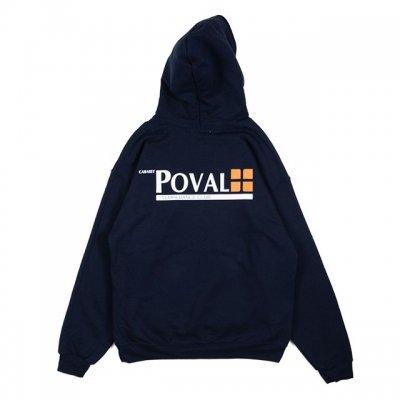 POVAL [BRUSH LOGO HOODED SWEATSHIRT] (NAVY)