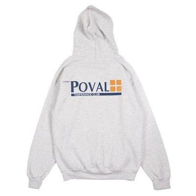 POVAL [BRUSH LOGO HOODED SWEATSHIRT] (ASH)