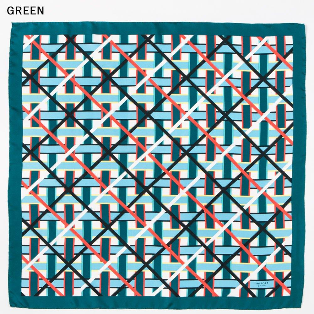 LATTICE GEO(CGP-045) 【the PORT by marca】大判 シルクツイル スカーフの画像2