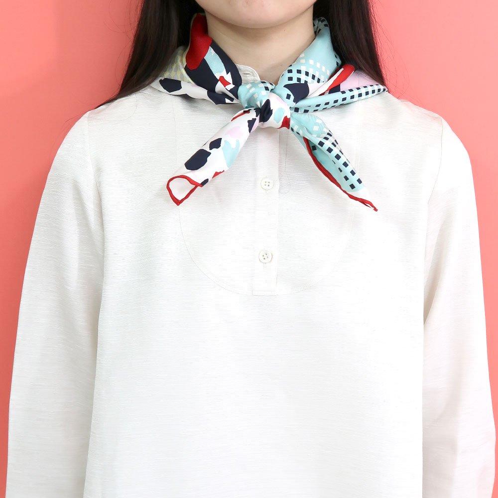 CHERRY(CGP-046) 【the PORT by marca】大判 シルクツイル スカーフの画像11