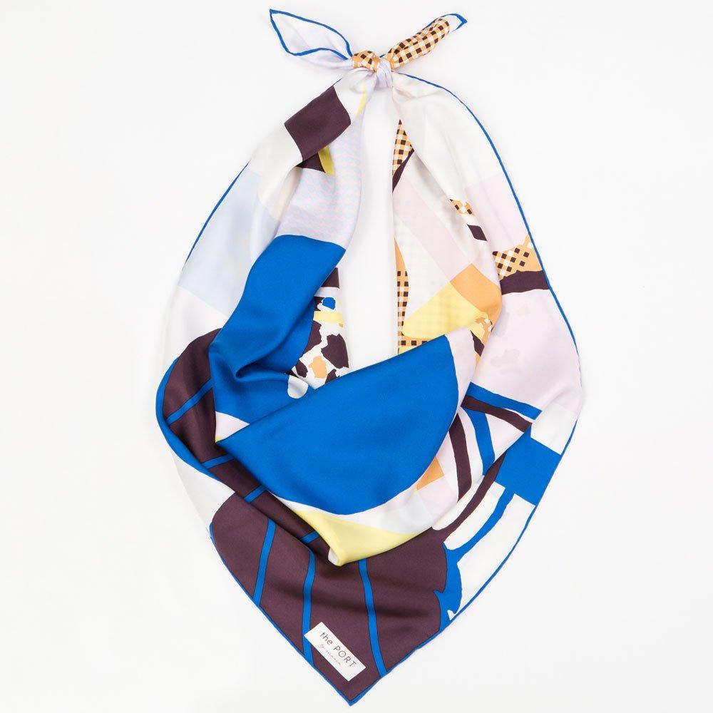 CHERRY(CGP-046) 【the PORT by marca】大判 シルクツイル スカーフの画像13