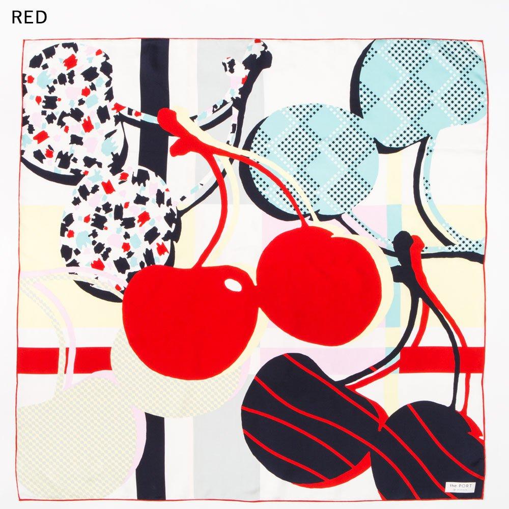 CHERRY(CGP-046) 【the PORT by marca】大判 シルクツイル スカーフの画像7
