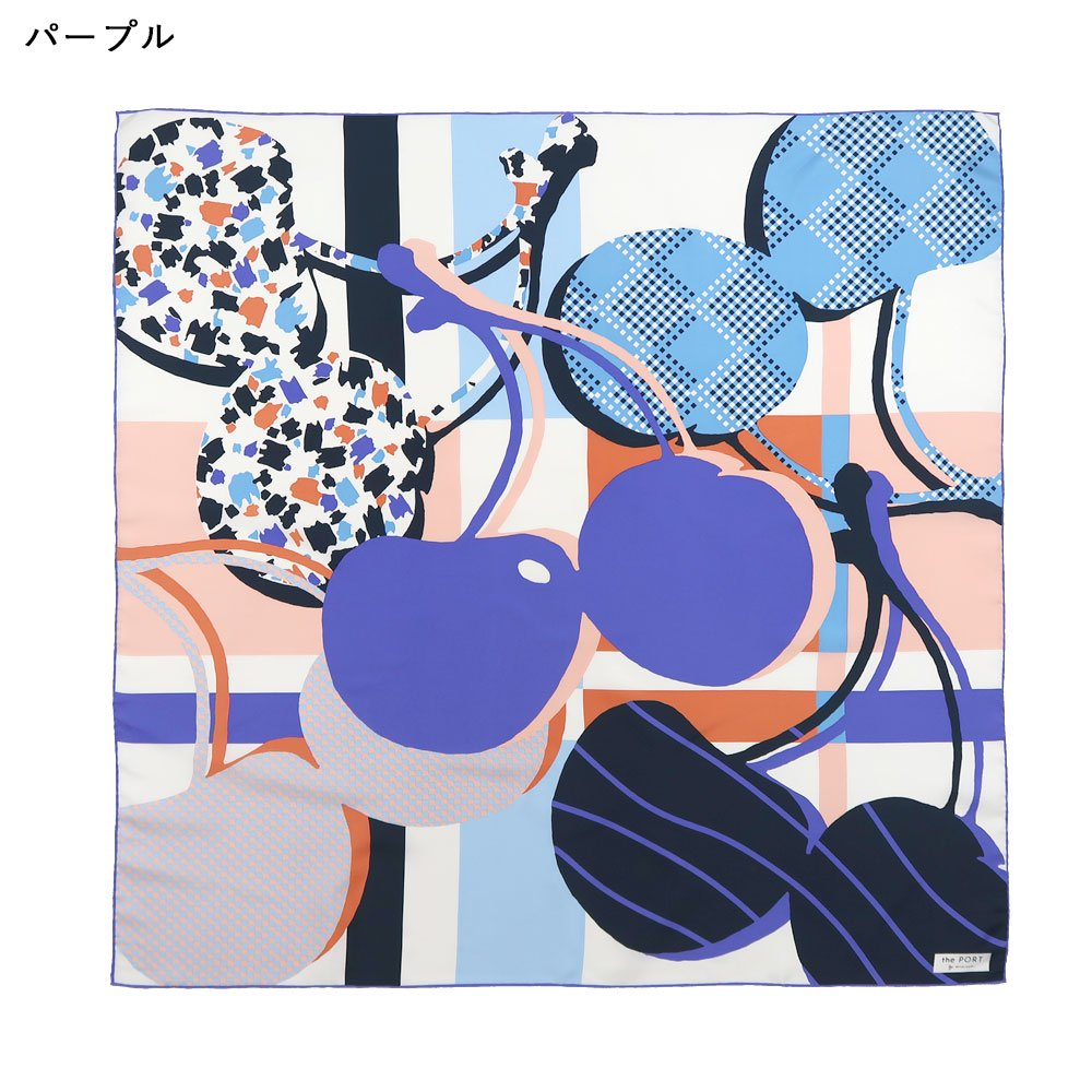 CHERRY(CGP-046) 【the PORT by marca】大判 シルクツイル スカーフの画像9