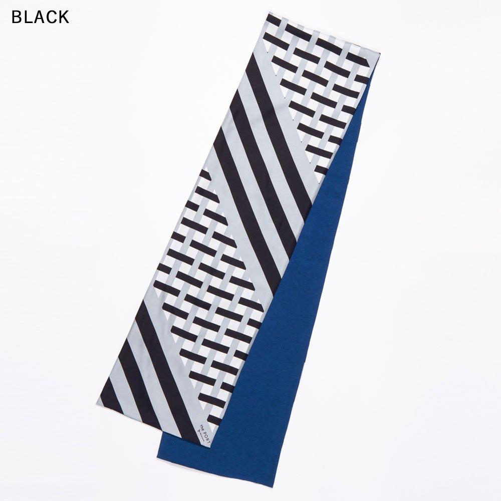 GRID CHECK(NGP-040) 【the PORT by marca】 シルクツイル+ジャージー袋合わせ ナロースカーフの画像6