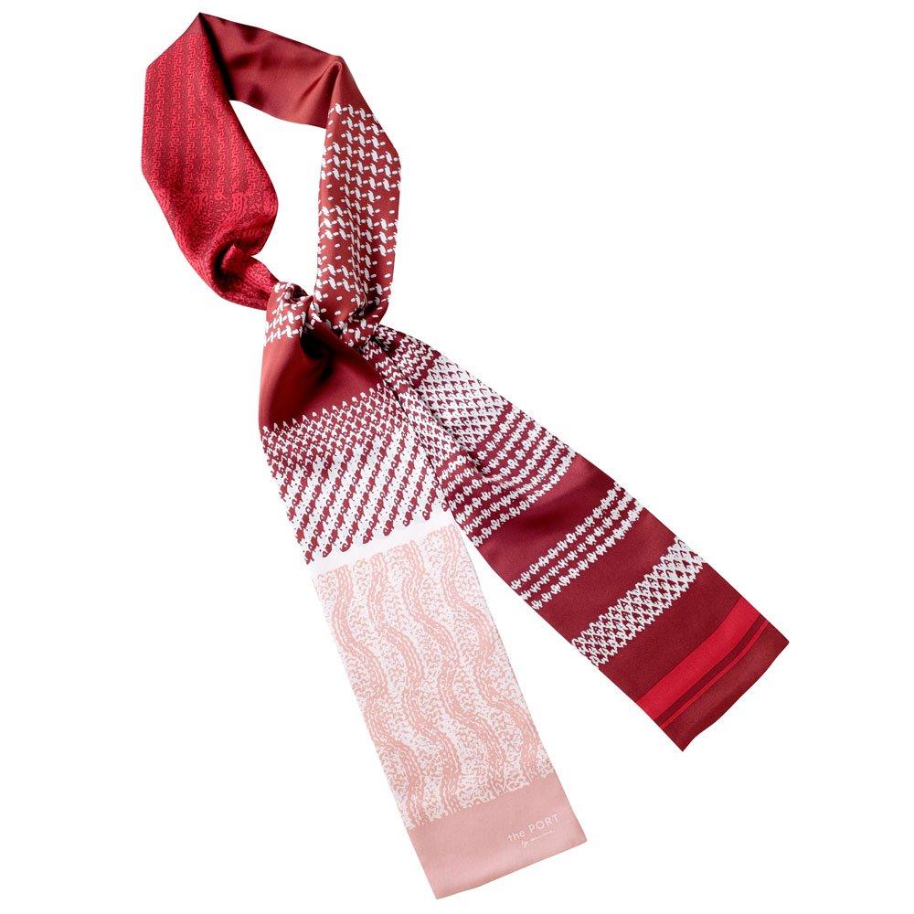 Knitting Fabric(NGP-131N) 【the PORT by marca】 シルクツイル ナロースカーフの画像1