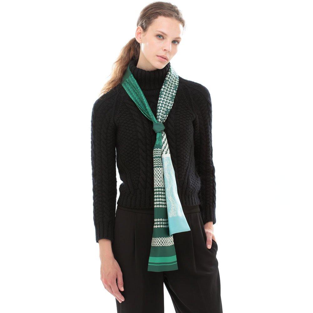 Knitting Fabric(NGP-131N) 【the PORT by marca】 シルクツイル ナロースカーフの画像12