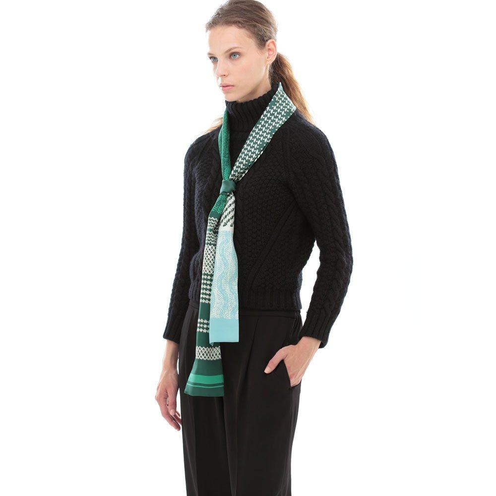 Knitting Fabric(NGP-131N) 【the PORT by marca】 シルクツイル ナロースカーフの画像13
