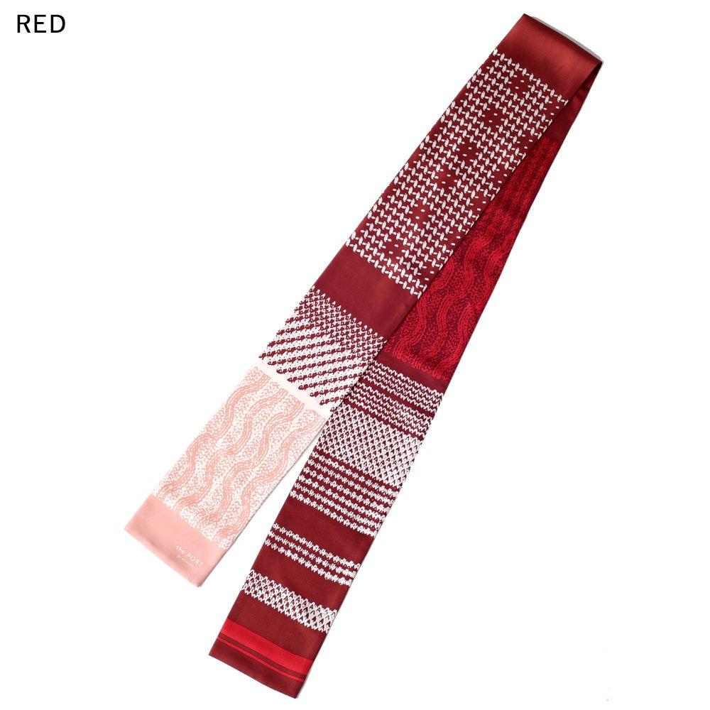 Knitting Fabric(NGP-131N) 【the PORT by marca】 シルクツイル ナロースカーフの画像2
