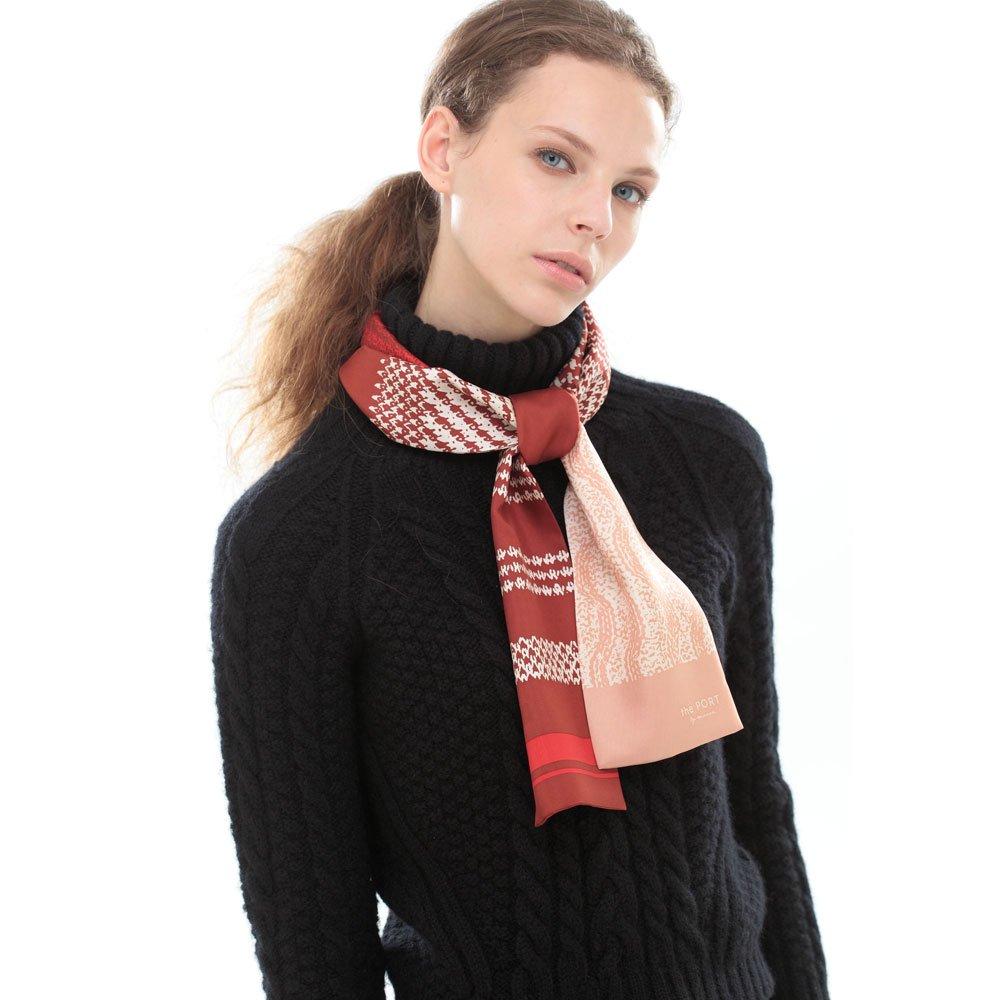 Knitting Fabric(NGP-131N) 【the PORT by marca】 シルクツイル ナロースカーフの画像3