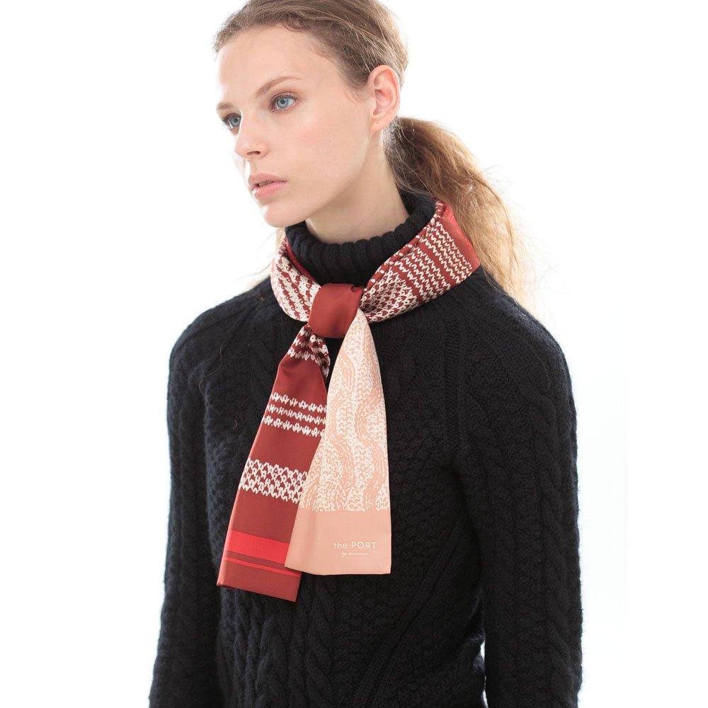 Knitting Fabric(NGP-131N) 【the PORT by marca】 シルクツイル ナロースカーフの画像4