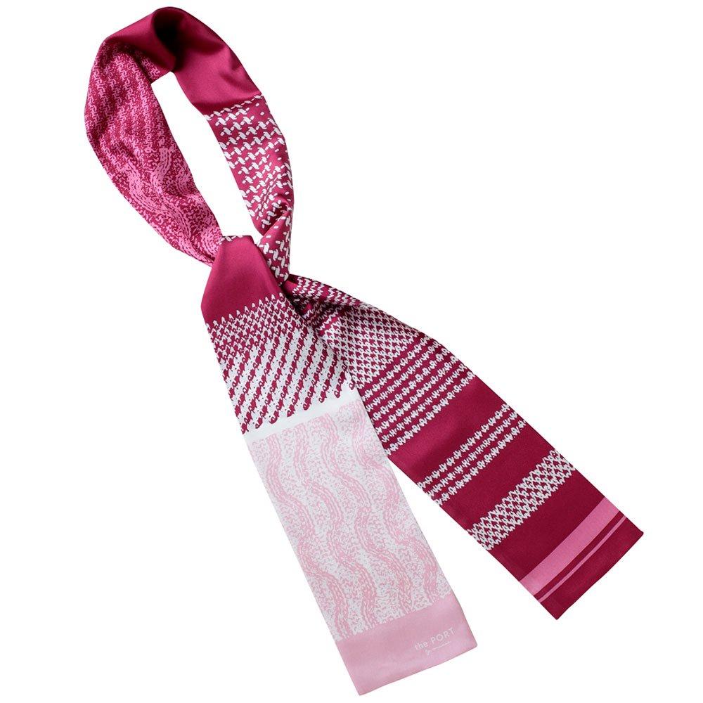 Knitting Fabric(NGP-131N) 【the PORT by marca】 シルクツイル ナロースカーフの画像6