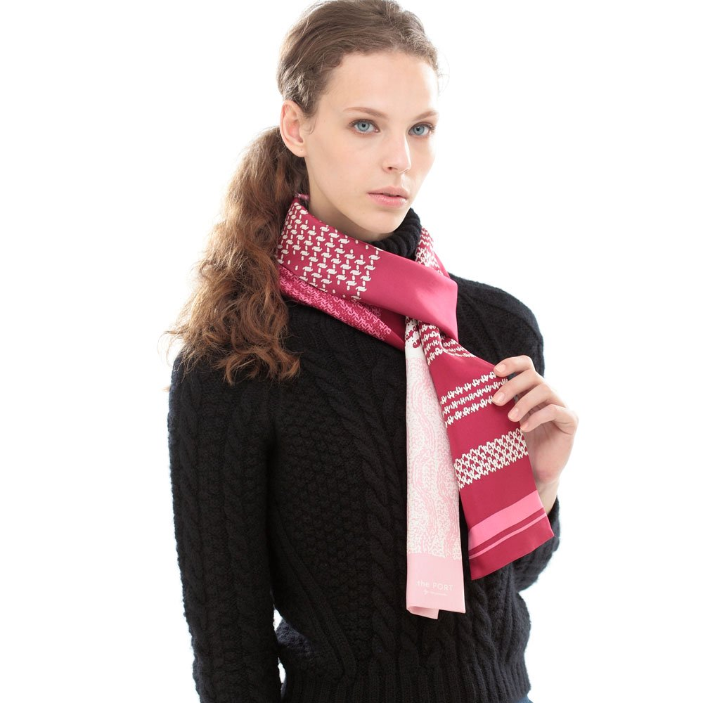 Knitting Fabric(NGP-131N) 【the PORT by marca】 シルクツイル ナロースカーフの画像7