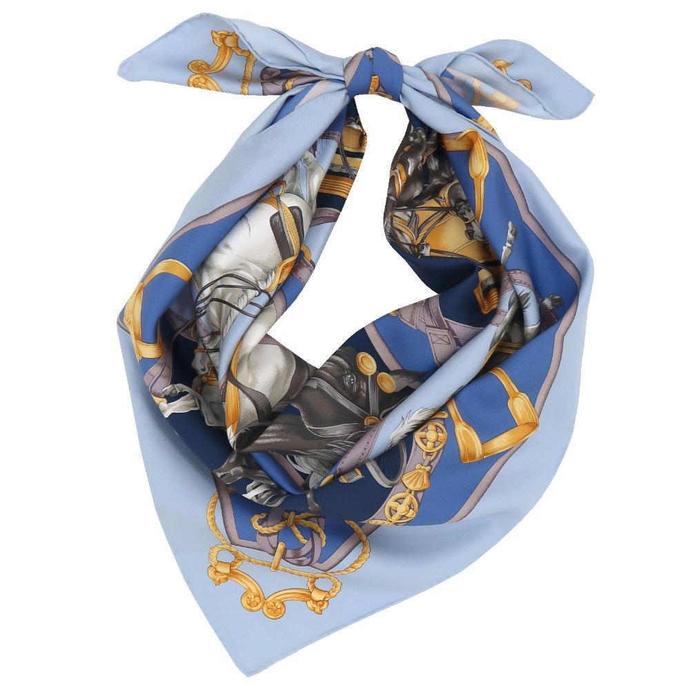 HORSE(CM9-340) 伝統横濱スカーフ 大判 シルクツイル スカーフの画像1