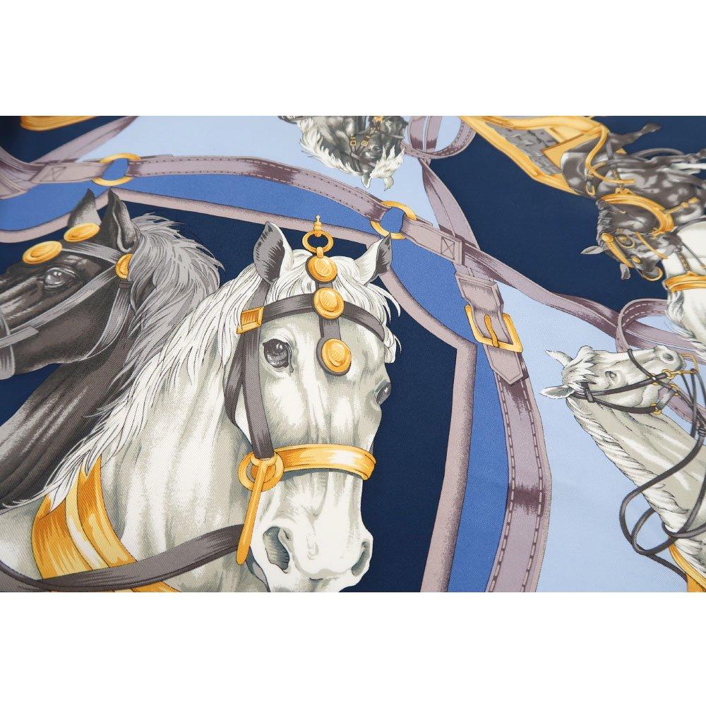 HORSE(CM9-340) 伝統横濱スカーフ 大判 シルクツイル スカーフの画像5