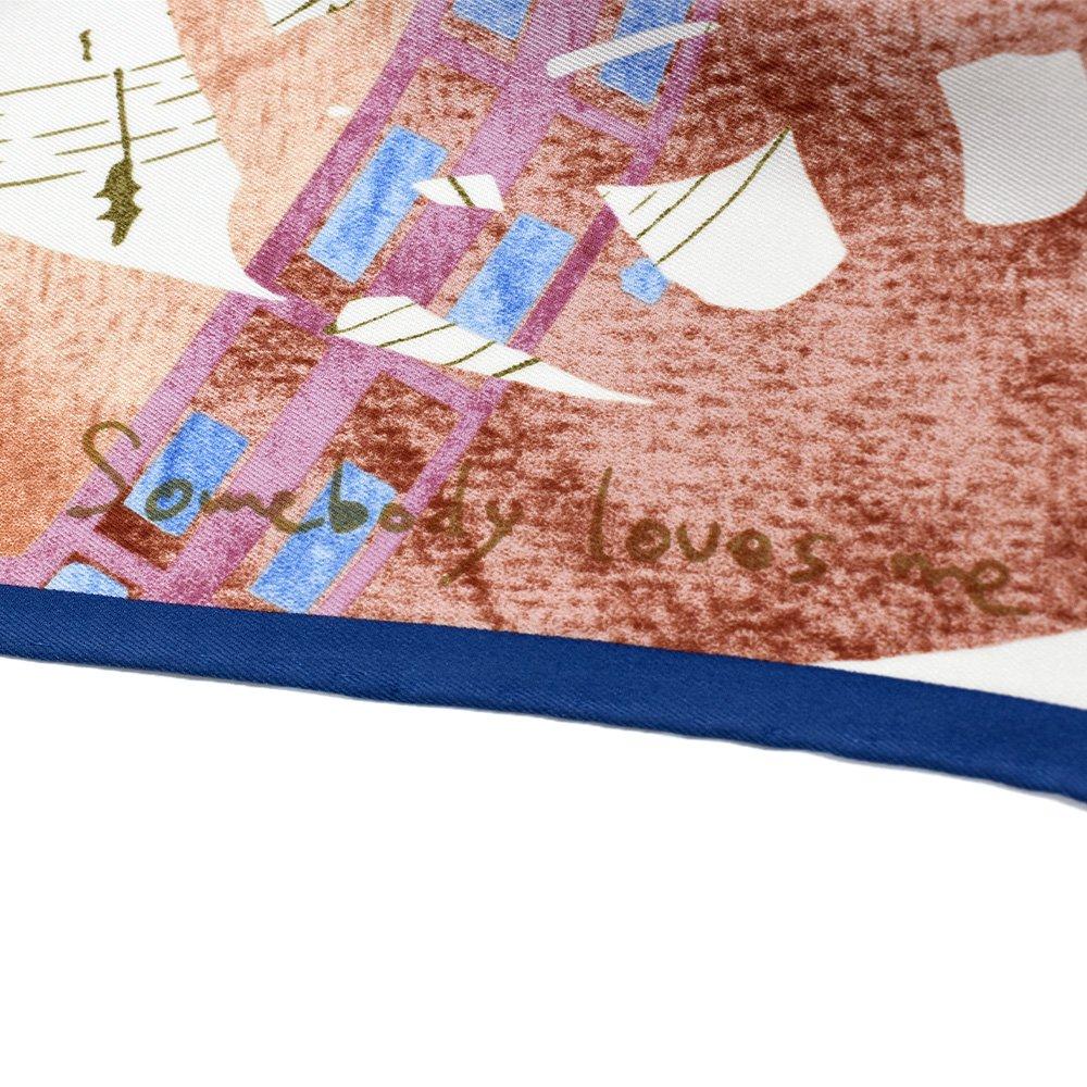SOMEBODY LOVES ME/JAZZ(CML-008) 伝統横濱スカーフ 大判 シルクスカーフの画像4