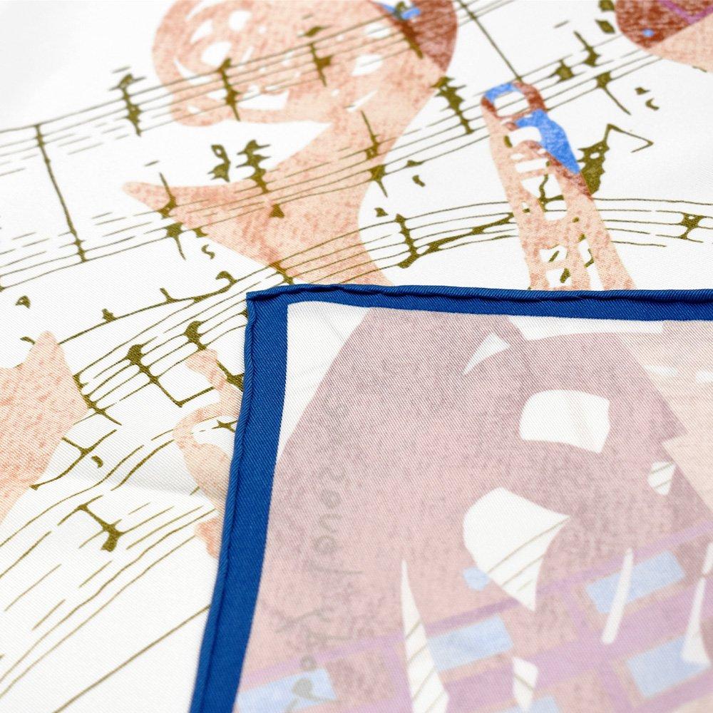 SOMEBODY LOVES ME/JAZZ(CML-008) 伝統横濱スカーフ 大判 シルクスカーフの画像5