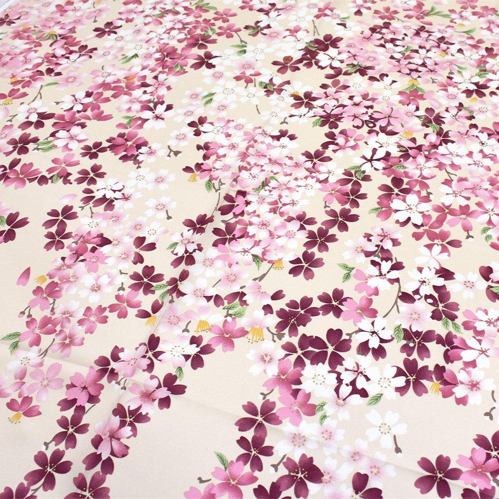 しだれ桜(CFD-021) 伝統横濱スカーフ 大判 シルクツイル スカーフの画像11