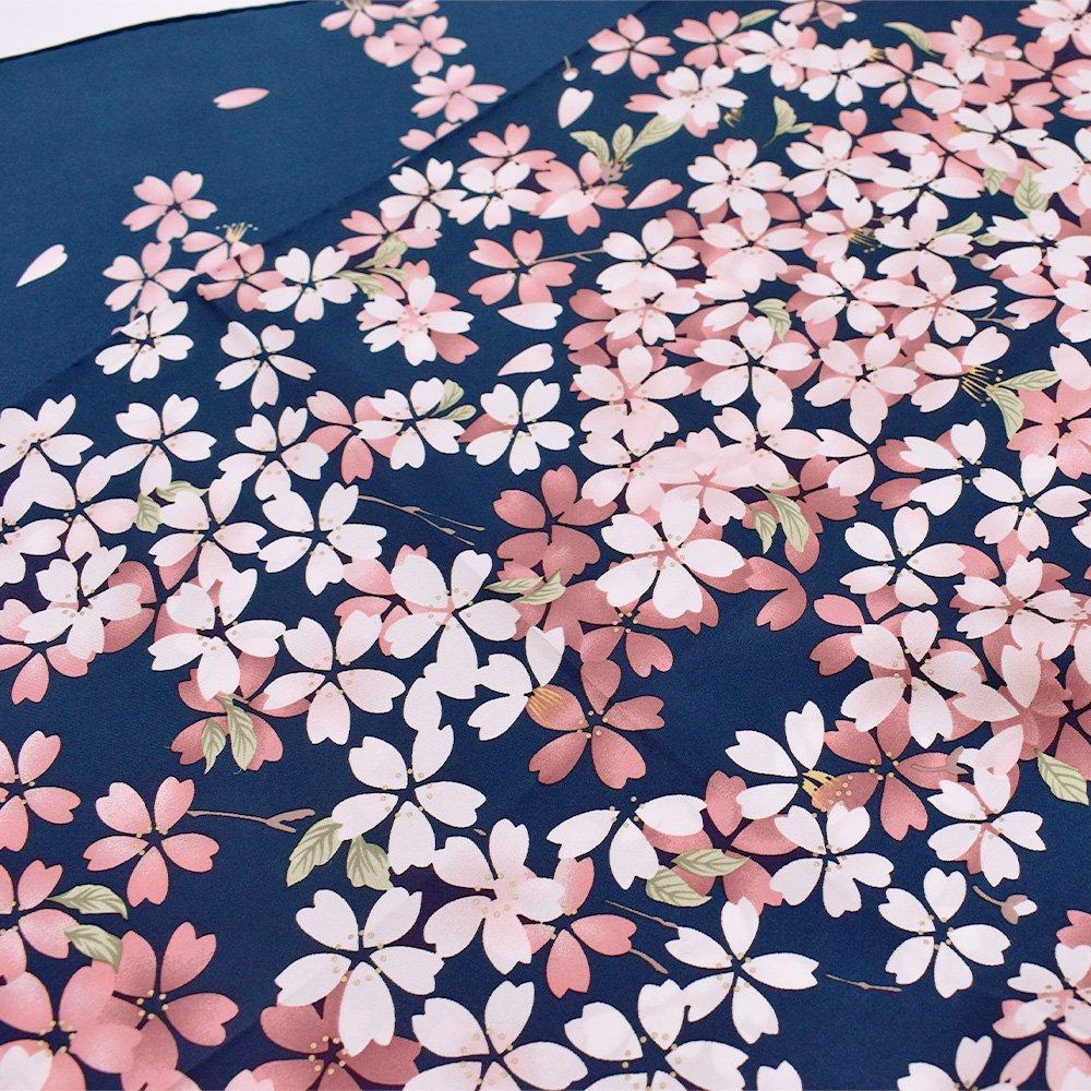 しだれ桜(CFD-021) 伝統横濱スカーフ 大判 シルクツイル スカーフの画像4