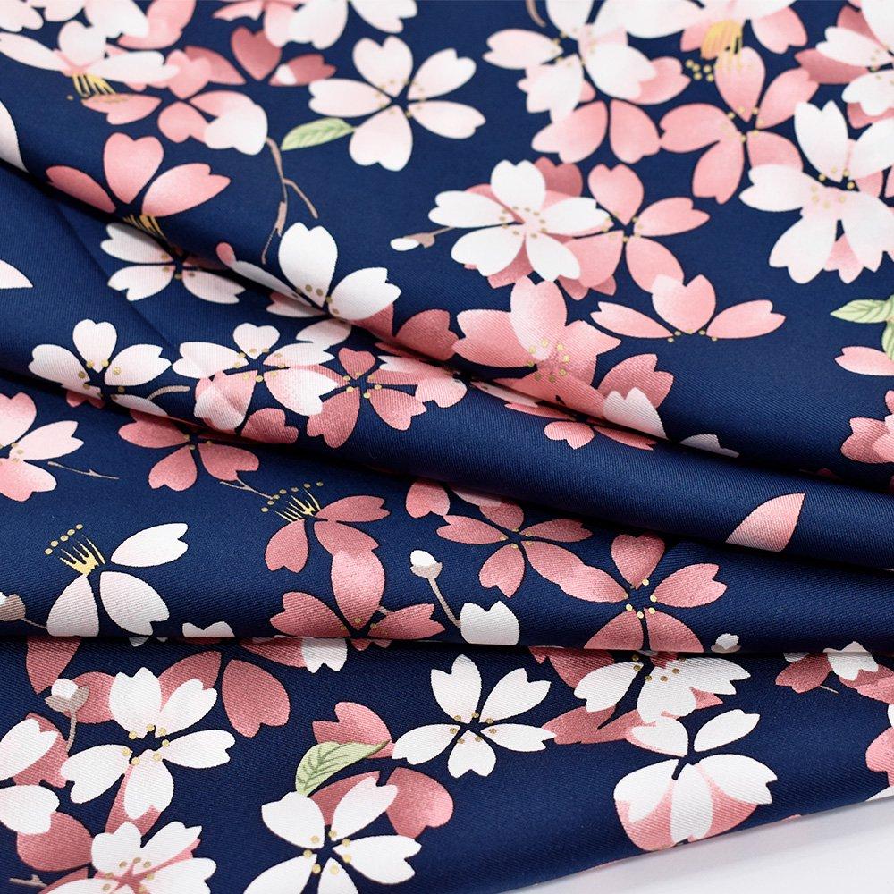 しだれ桜(CFD-021) 伝統横濱スカーフ 大判 シルクツイル スカーフの画像5