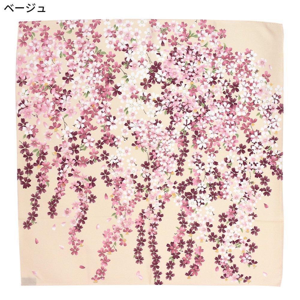 しだれ桜(CFD-021) 伝統横濱スカーフ 大判 シルクツイル スカーフの画像8