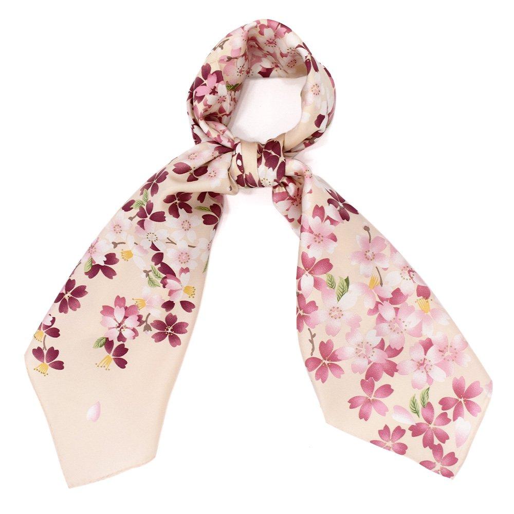 しだれ桜(CFD-021) 伝統横濱スカーフ 大判 シルクツイル スカーフの画像9
