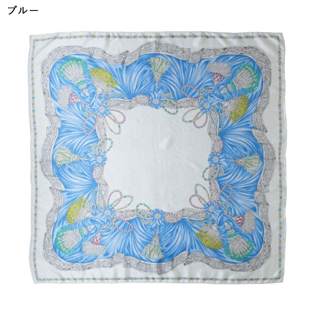 タッセル(CM4-651) Marcaオリジナル 大判 シルクデシン スカーフの画像1