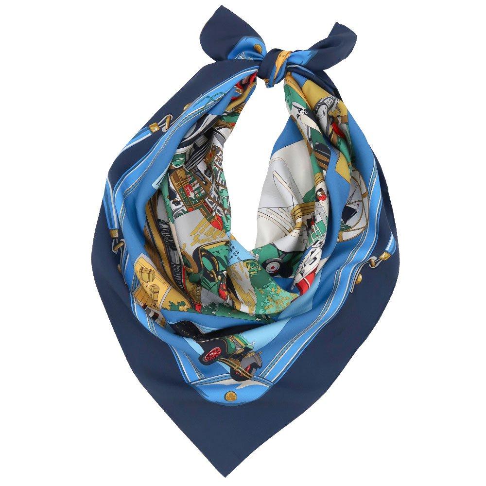 トラベル(CM6-836) 伝統横濱スカーフ 大判 シルクツイル スカーフの画像1