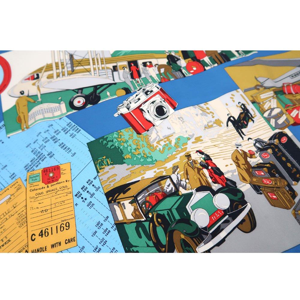 トラベル(CM6-836) 伝統横濱スカーフ 大判 シルクツイル スカーフの画像5