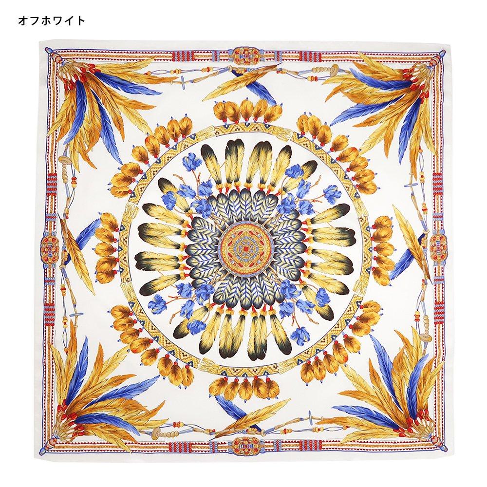 羽根飾り(CM5-156T) Marcaオリジナル 大判 シルクツイル スカーフの画像2