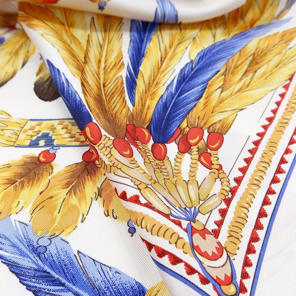 羽根飾り(CM5-156T) Marcaオリジナル 大判 シルクツイル スカーフの画像4