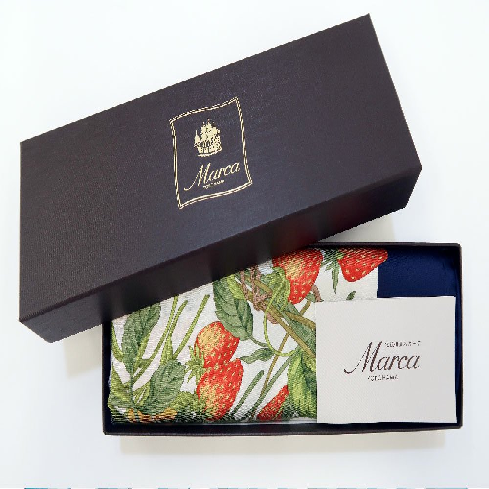 四季のツリー花(CFE-224) 伝統横濱スカーフ 大判 シルクツイル スカーフの画像13