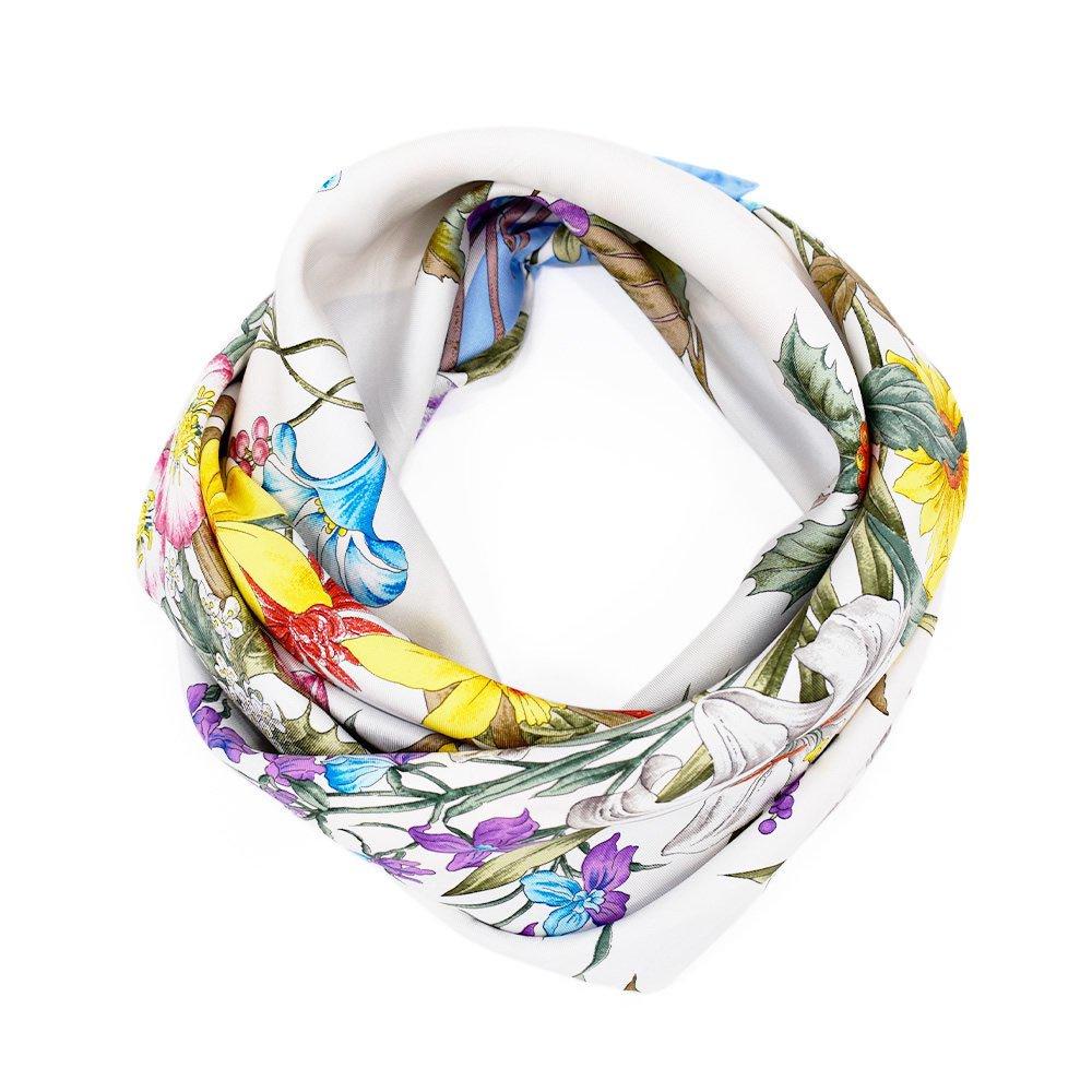 四季のツリー花(CFE-224) 伝統横濱スカーフ 大判 シルクツイル スカーフの画像14