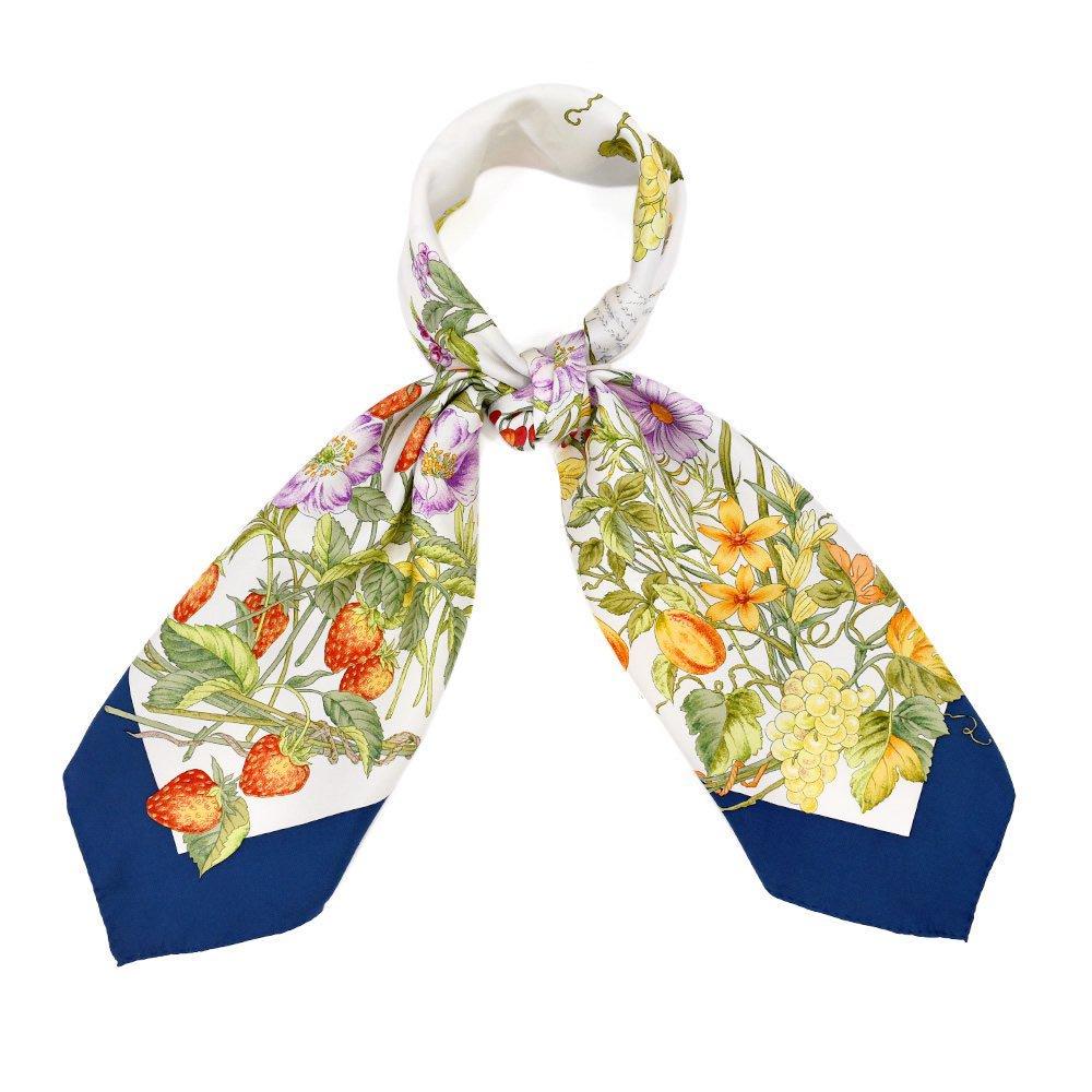四季のツリー花(CFE-224) 伝統横濱スカーフ 大判 シルクツイル スカーフの画像8