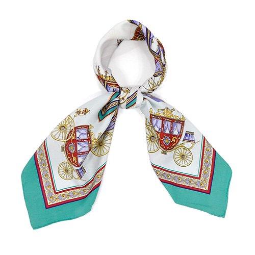 馬車行列(CM5-438) 伝統横濱スカーフ 大判 シルクツイル スカーフ