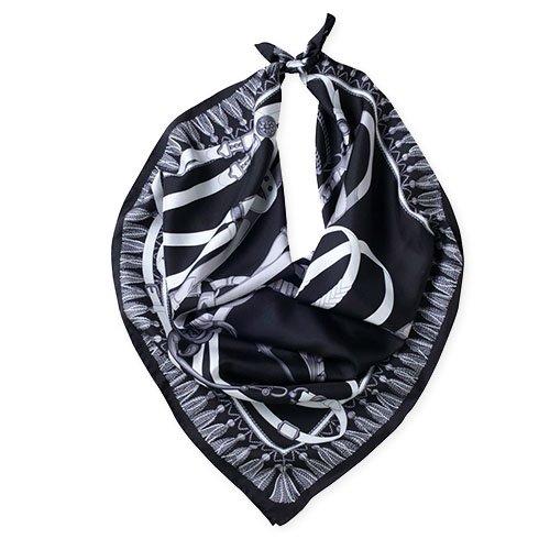 馬勒ベルト(CM5-310) Marcaオリジナル 大判 シルクツイル スカーフ