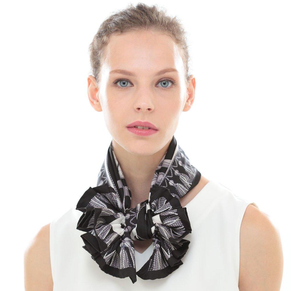 馬勒ベルト(CM5-310) Marcaオリジナル 大判 シルクツイル スカーフの画像4