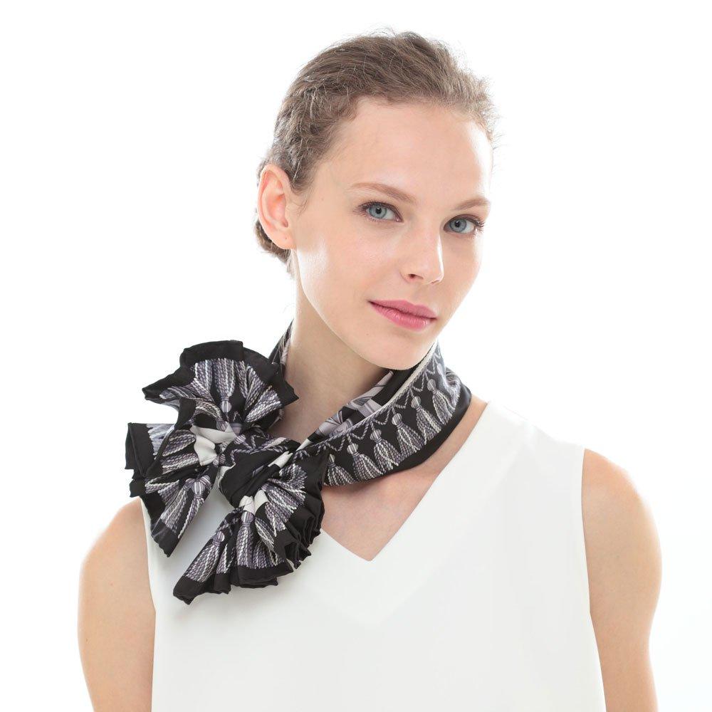 馬勒ベルト(CM5-310) Marcaオリジナル 大判 シルクツイル スカーフの画像5