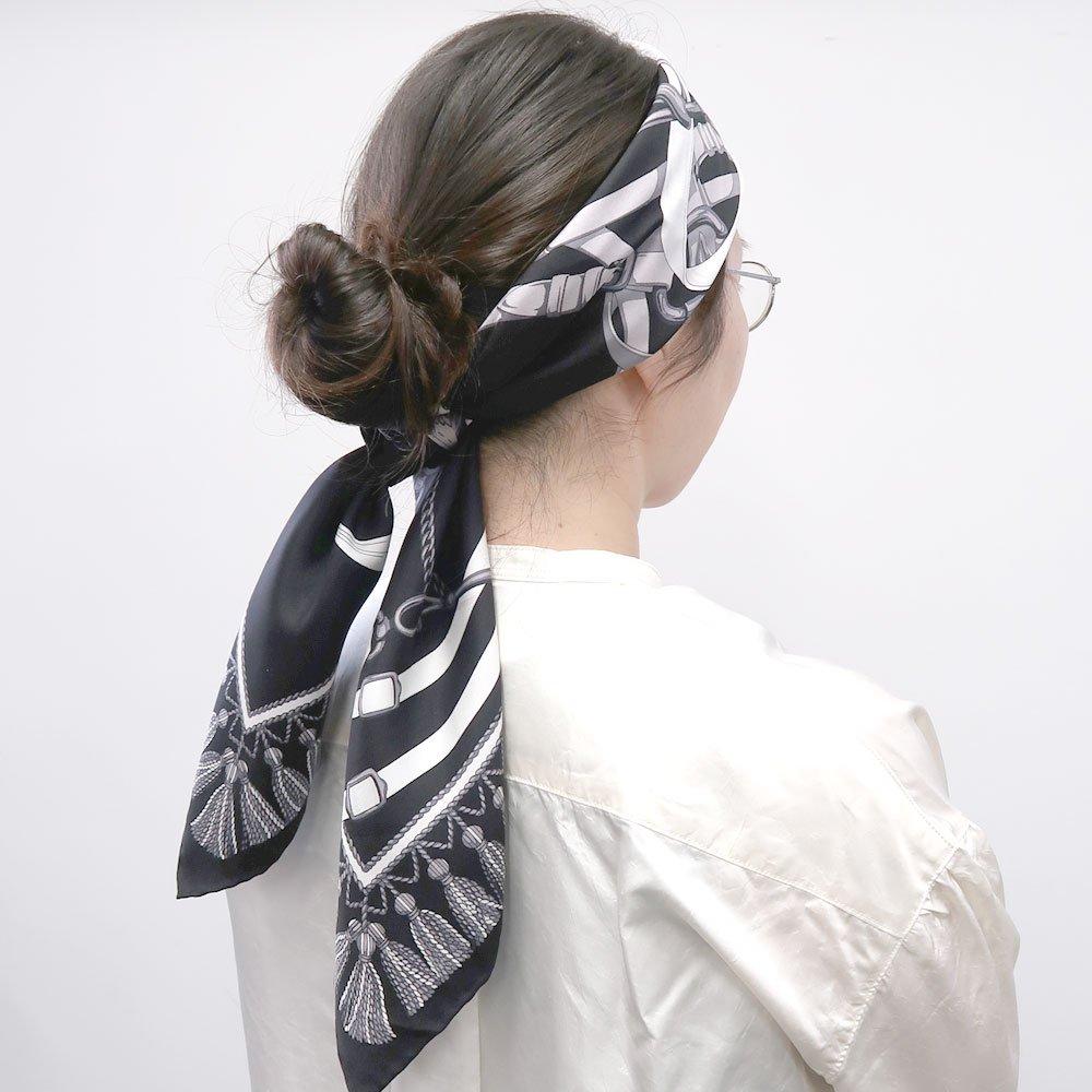 馬勒ベルト(CM5-310) Marcaオリジナル 大判 シルクツイル スカーフの画像6