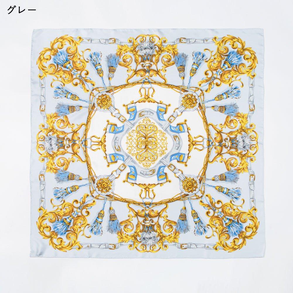 タッセル&オーナメント(MM4-387) Marcaオリジナル 大判 シルクツイル スカーフの画像1